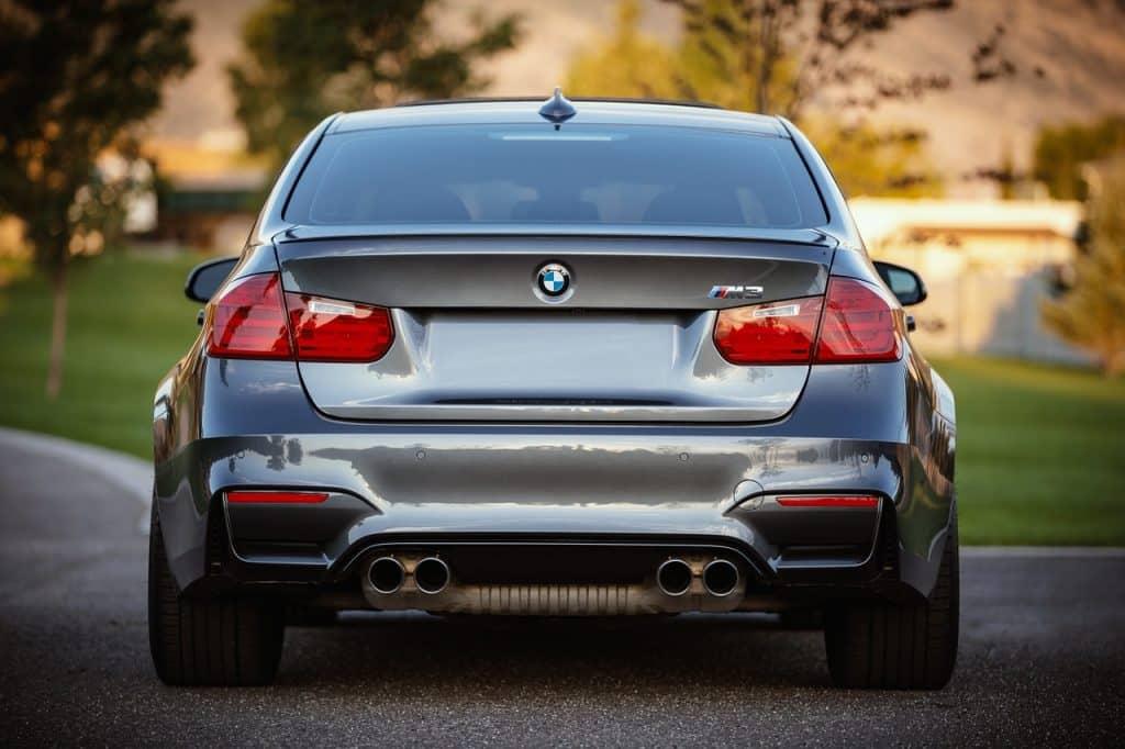 bmw, car, rear