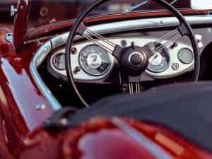 car, steering wheel, classic car
