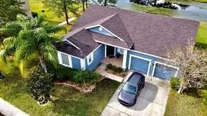 house, roof, car